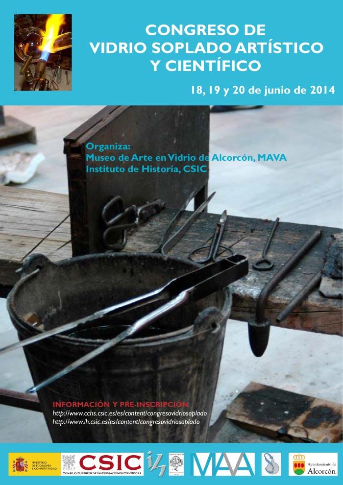 Cartel Cogreso vidrio soplado MAVA junio 2014
