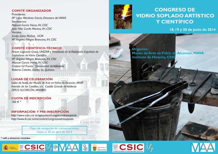 Diptico-programa Congreso vidrio soplado MAVA junio 2014 2-1