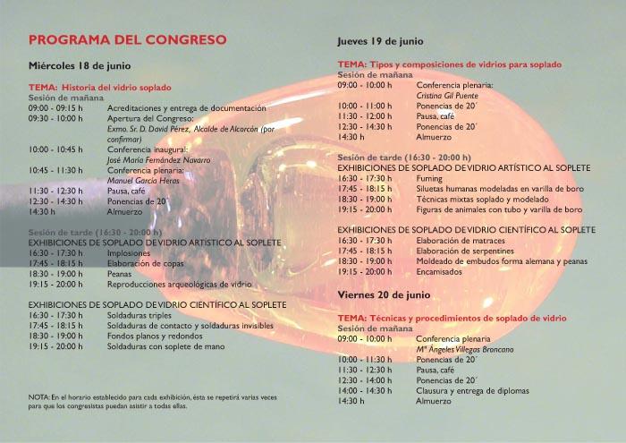 Diptico-programa Congreso vidrio soplado MAVA junio 2014 2-2