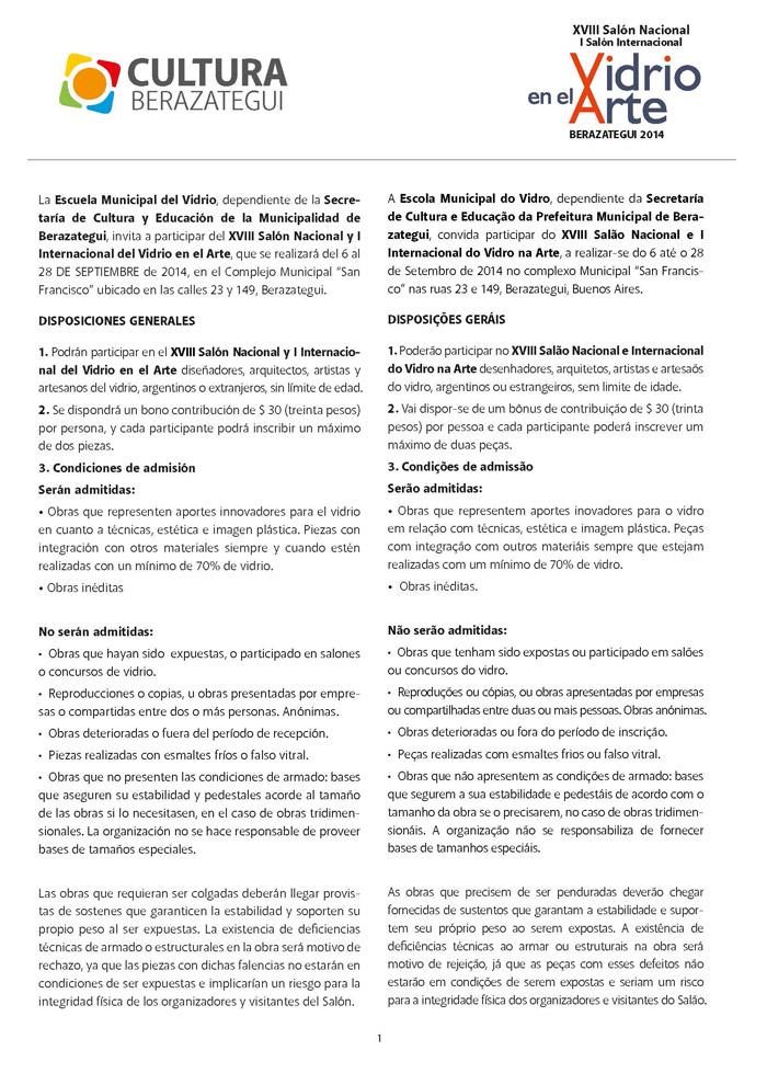 Reglamento salon vidrio-espanol-portugues Page 1