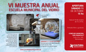 Afiche VI Muestra Anual Vidrio 2014