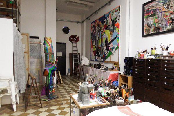 taller del artista plastico argentino Luis Felipe Yuyo Noe