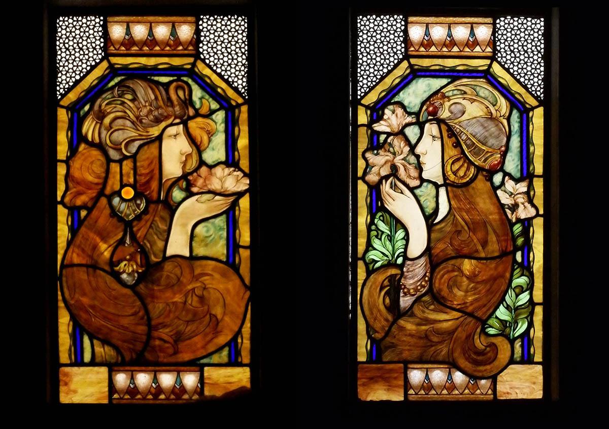 vitrales restaurados confiteria del molino