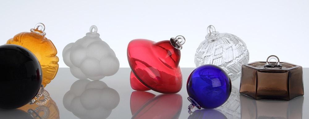 Bolas de navidad de vidrio