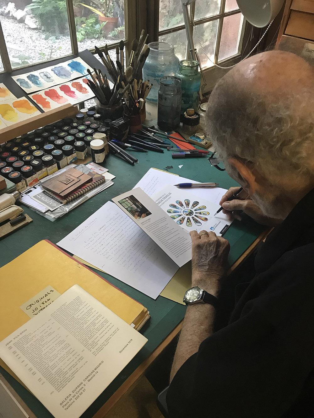 Joan Vila Grau en su taller
