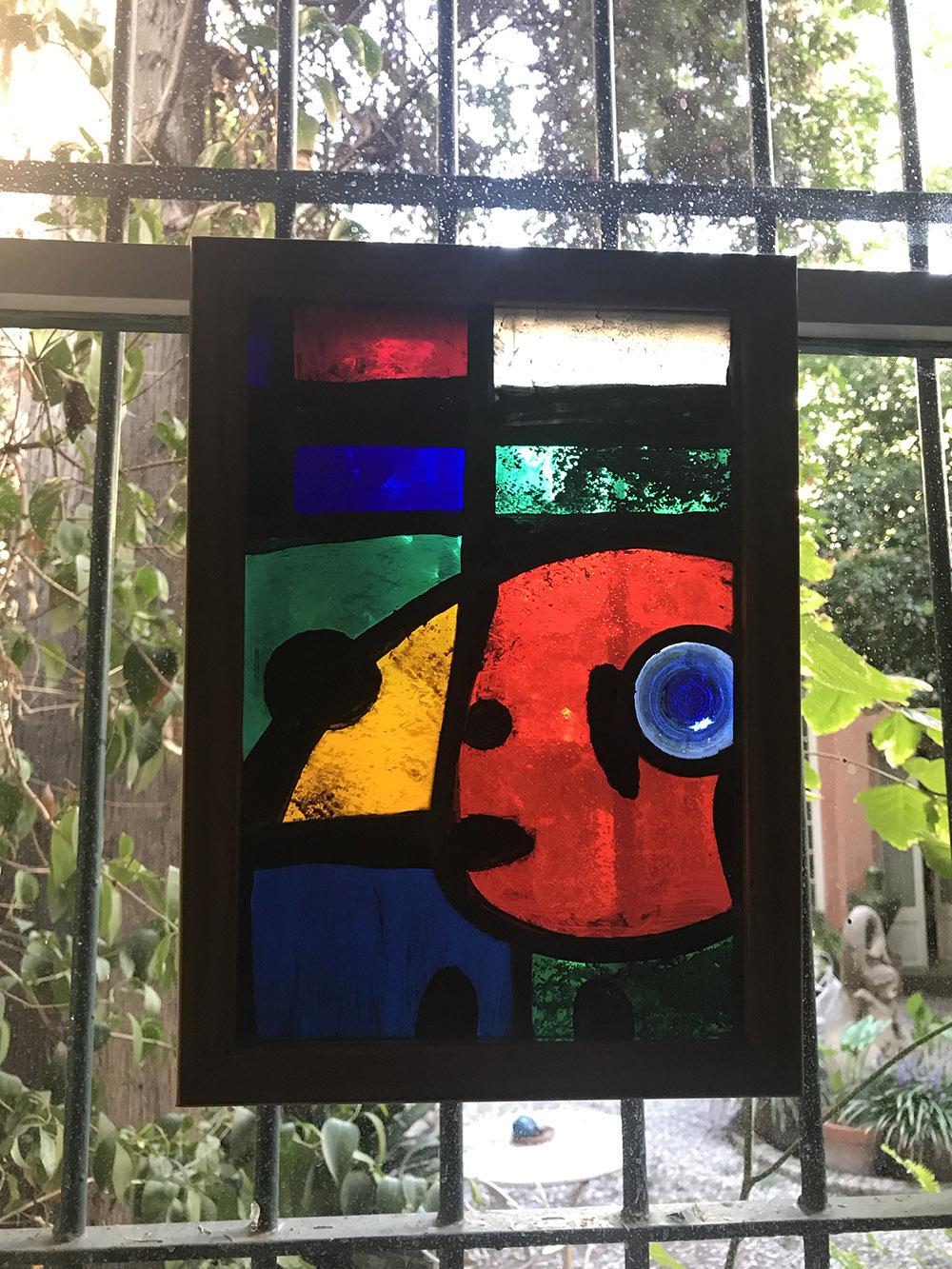 Joan Miró vidres vitralls Joan Vila Grau Objetos con Vidrio