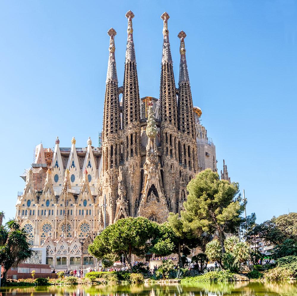 Sagrada Familia de Barcelona Gaudi Objetos con Vidrio