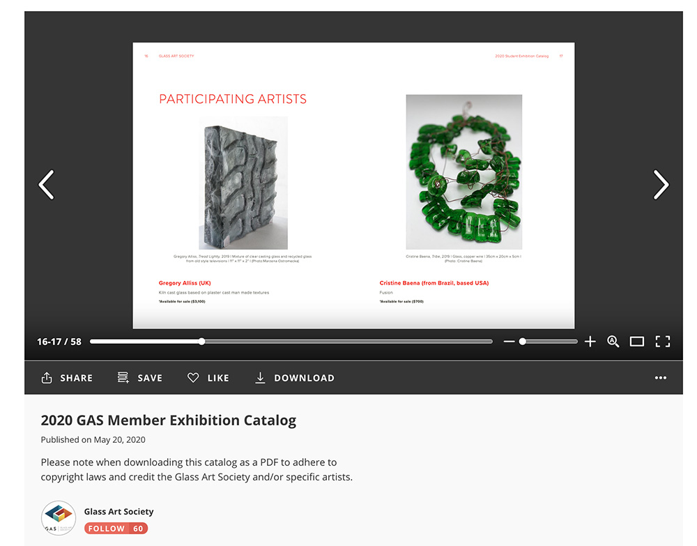 2020 GAS Member Exhibition Catalog