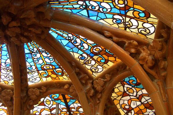 Jordi Vidal restauración vidrios Cúpula Sant Pau Barcelona - Modernismo