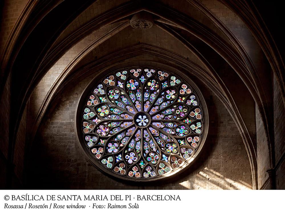 Rosetón Basílica Santa María del Pi
