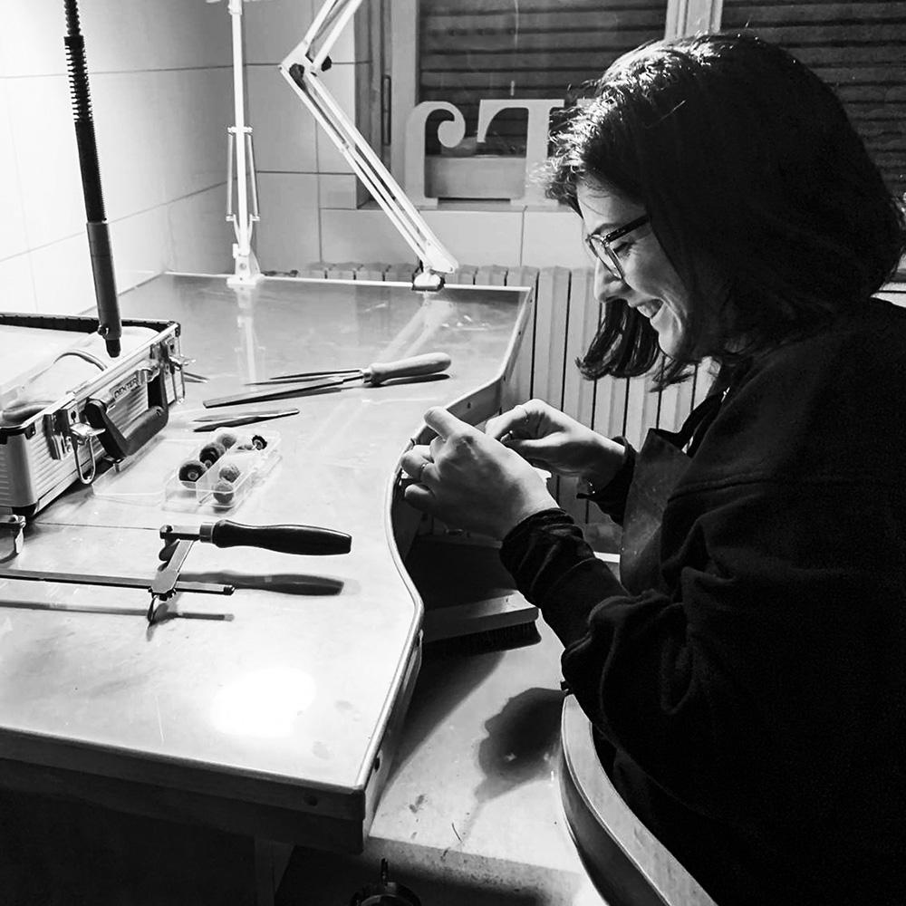 Francesca Locati Joyería en vidrio Glass Jewerly objetos con vidrio