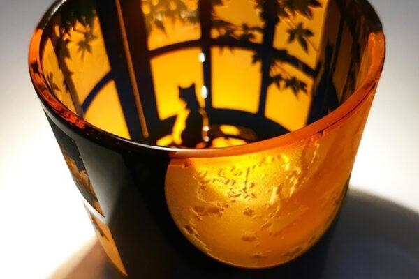 Vidrio tallado japones