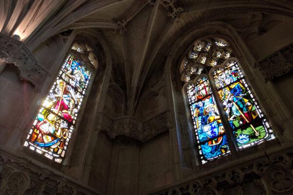 Chapelle Saint Hubert Amboise, Francia Vitrales de Max Ingrand