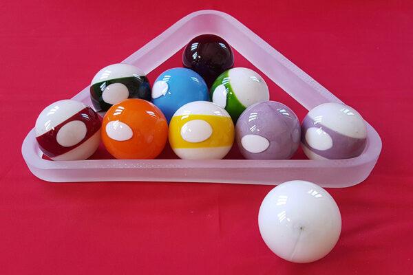 Pool Ball and Rack